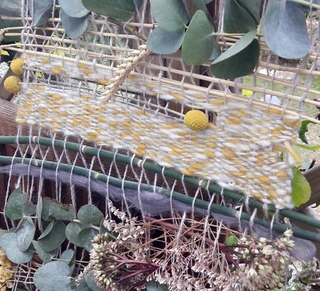 tissage végétal fleurs sèches diy tutoriel