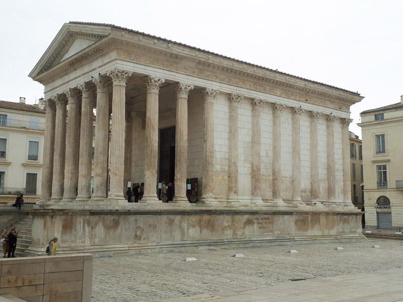 Nîmes gard romain arènes maison carrée