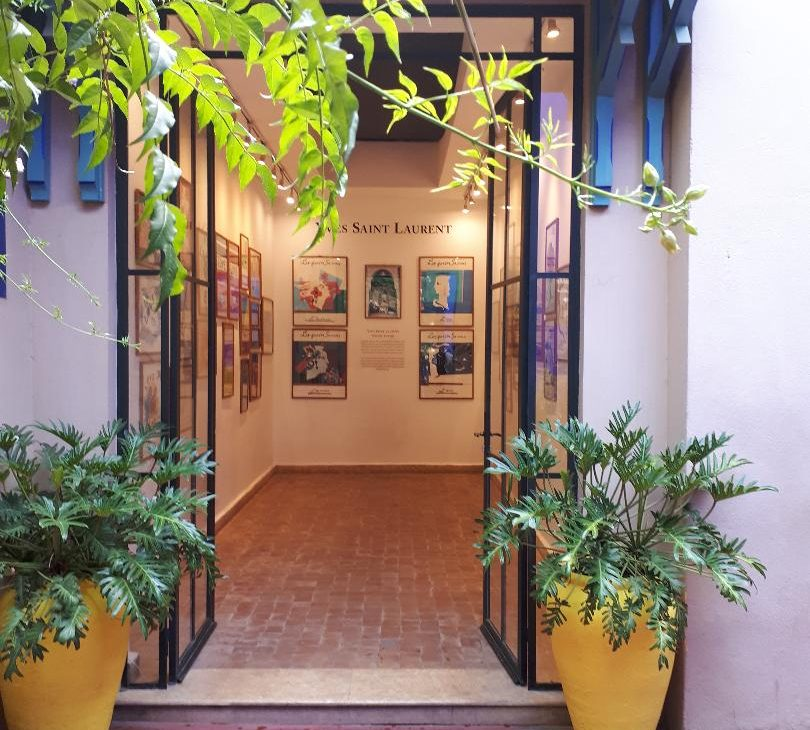 bleu majorelle jardin maroc marrakech