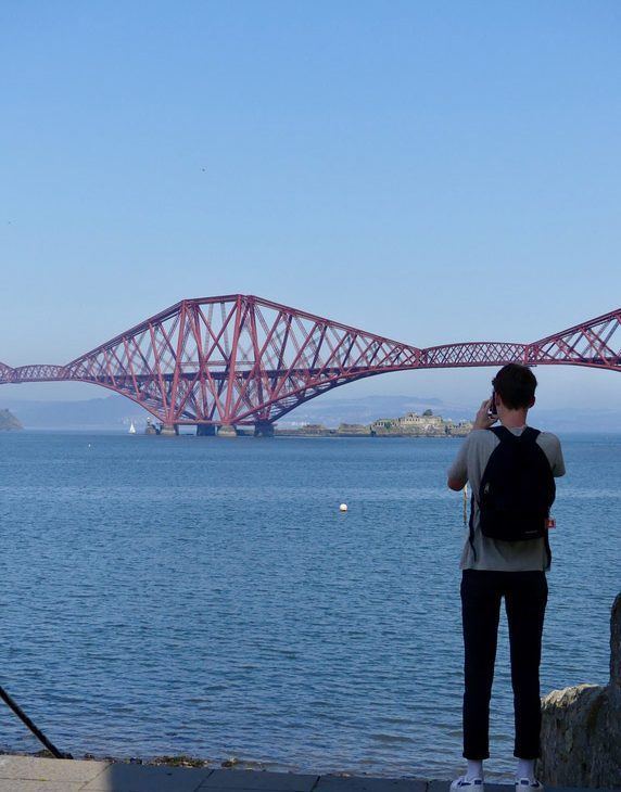 ecosse edimbourg queens ferry bridge pont forth