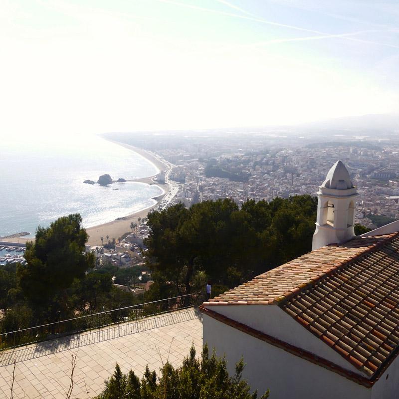 espagne blanes mediterrannée sant joan chateau