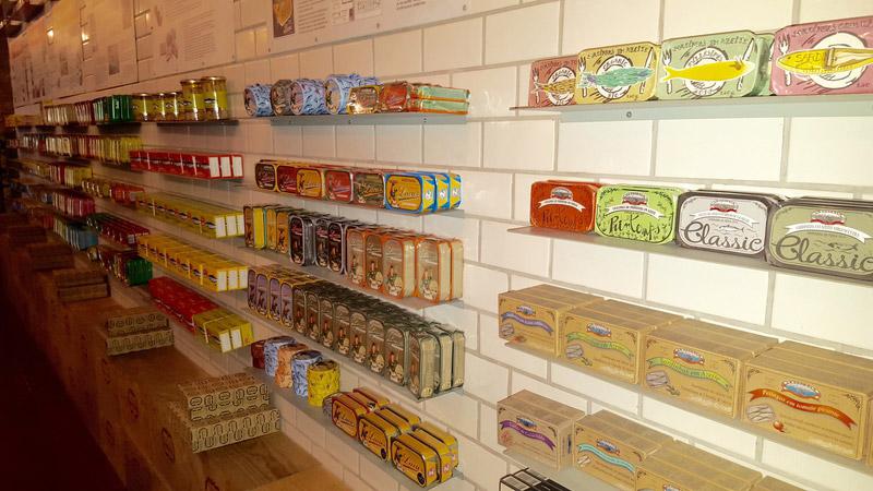 lisbonne portual shopping sardines conserves