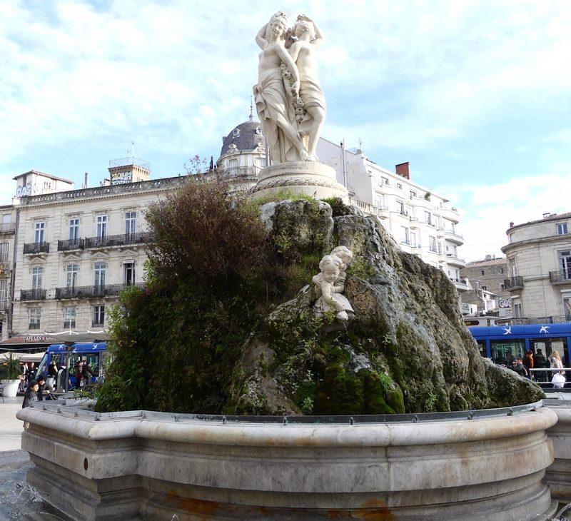 montpellier hérault tourisme fontaine 3 graces