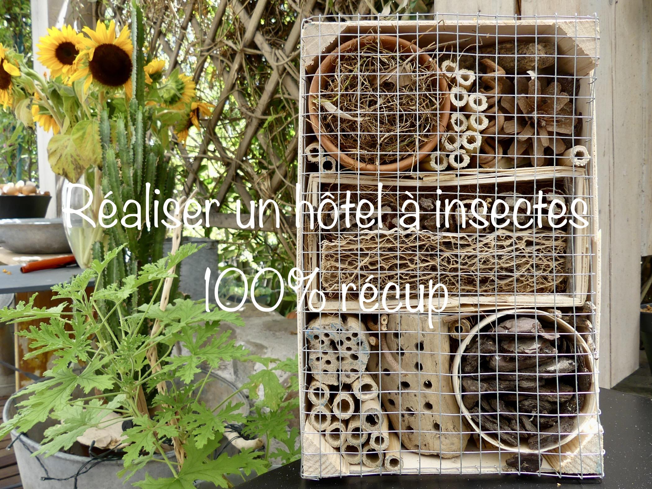 Réaliser votre hôtel à insectes 100% récup - Gris Fluo & Green